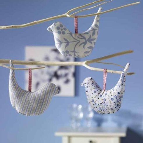 Inspirador De moviles infantiles con ramas Descubra formas de renovación - Móvil de pajarillos retro con ramas secas - Decomanitas