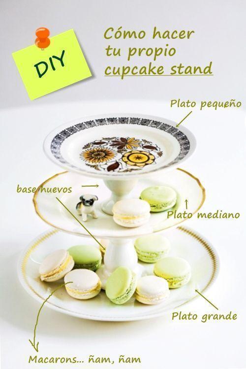 Cómo hacer cupcake stand 1