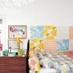 Divertido patchwork de papel pintado en ambiente casa Ikea