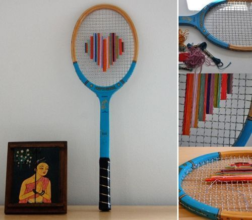 Idea para reciclar una raqueta decorando 1