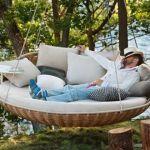 Muebles de exterior que inducen al descanso