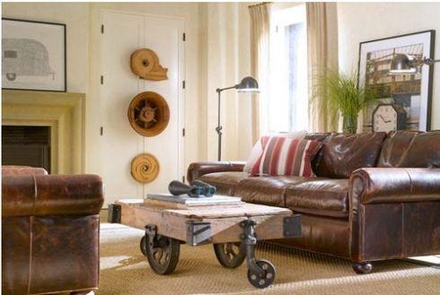 mesas vintage con ruedas de carro 1