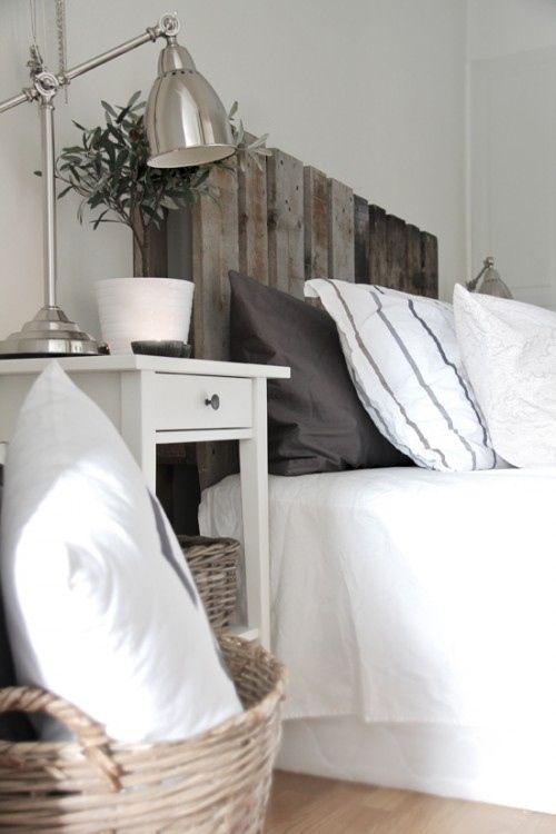 Palets para decorar dormitorios como cabeceros de cama 1