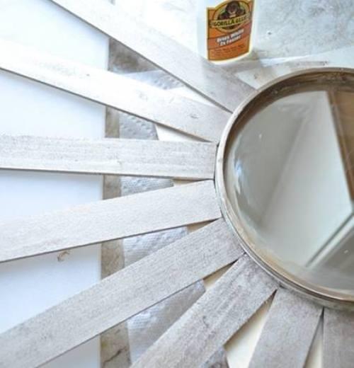 tutorial DIY espejo sol vintage estilo años 60 i