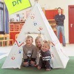 Un tipi DIY para decorar habitaciones de niños