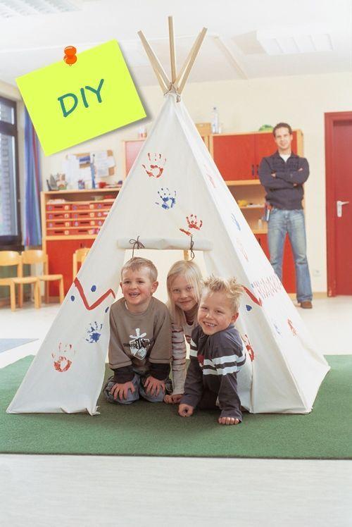un tipi DIY para decorar habitaciones de niños 0