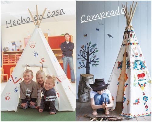 un tipi DIY para decorar habitaciones de niños 10