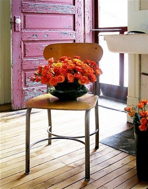 viejas sillas de colegio para decorar 4