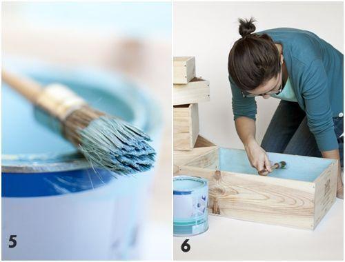 Tutorial cómo decorar con cajas de madera 5