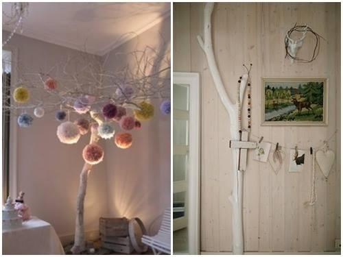 Ideas para decorar con ramas secas decomanitas - Centros de mesa con pinas secas ...