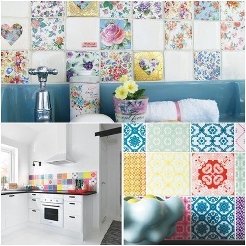 ideas patchwork para paredes vintage 9