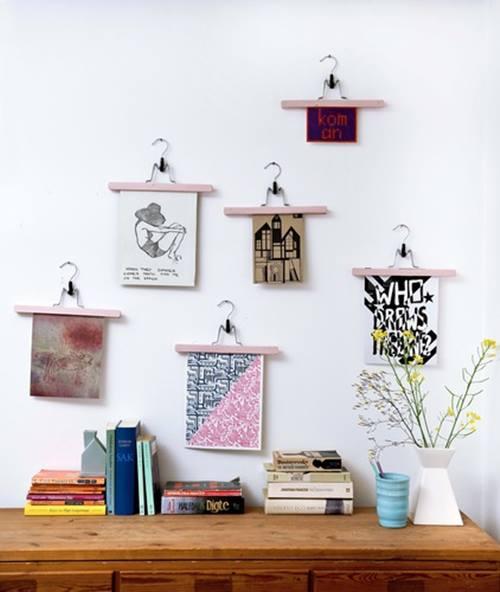 Colocar cuadros para decorar paredes de forma original 2