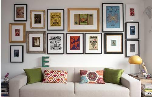 Colocar cuadros para decorar paredes de forma original 6
