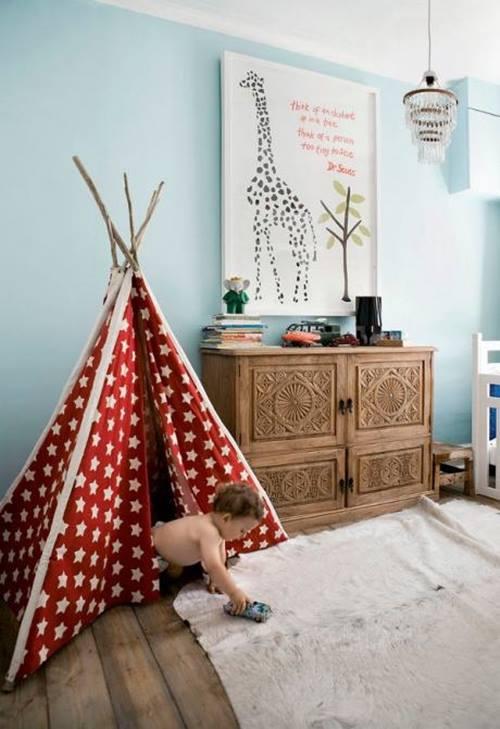 Decorar habitaciones de niños con tipis 12