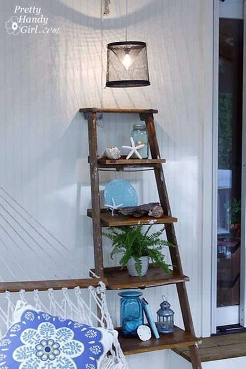 Reciclar para decorar viejas escaleras de madera recuperadas 5
