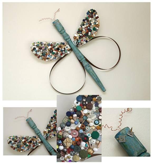 Reciclar y decorar mariposas y libélulas vintage en tus paredes... 3