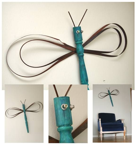 Reciclar y decorar mariposas y libélulas vintage en tus paredes... 4