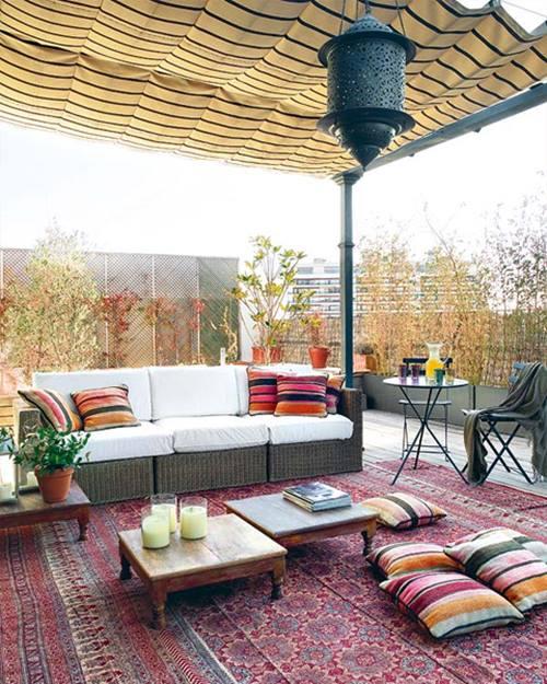 Crear un salón al aire libre 8
