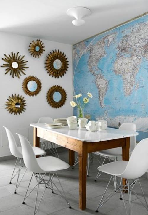 Inspiracion para decorar con mapas 1