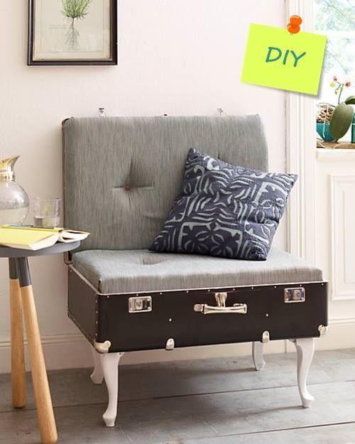 Maletas antiguas para decoraci n de interiores y reciclaje for Muebles con cosas recicladas