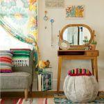 Una decoración retro sencilla y acogedora