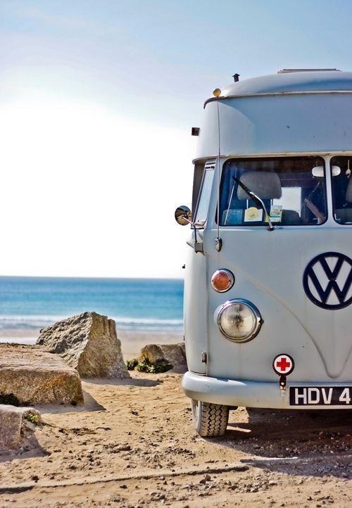 Vacaciones sugerentes ¡casa de verano con la vieja VW campervan! 3