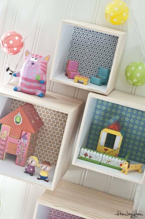 Decorar cajas de madera para habitaciones infantiles for Caja almacenaje infantil