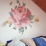 pintar paredes con esquemas de punto de cruz 6