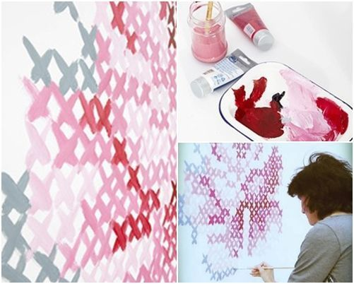 pintar paredes con esquemas de punto de cruz 7
