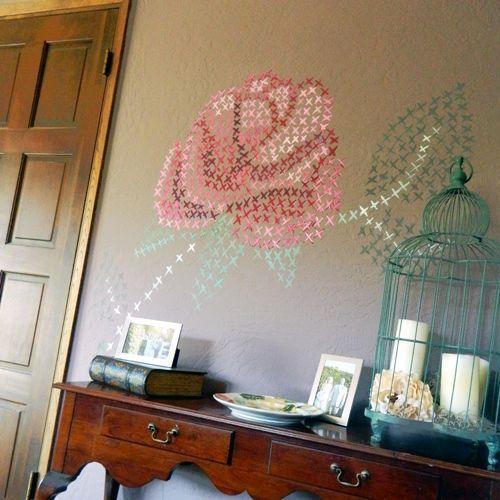 pintar paredes con esquemas de punto de cruz 8
