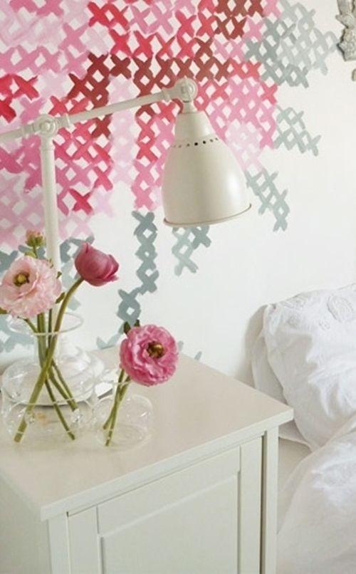pintar paredes con esquemas de punto de cruz 9c