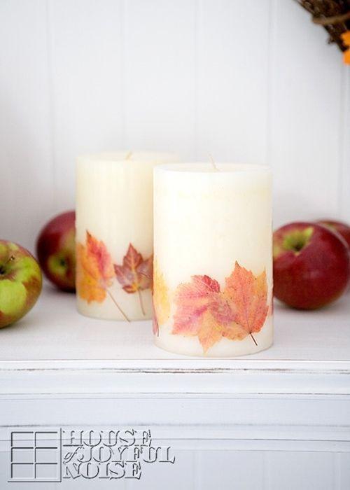 como hacer velas decorativas para otoño 1