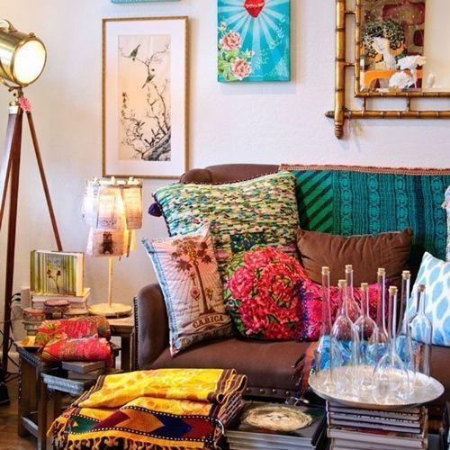 Qu es boho chic en decoraci n de interiores decomanitas for Decoracion casa hippie