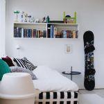 Decoración de cuartos juveniles con viejos monopatines 7