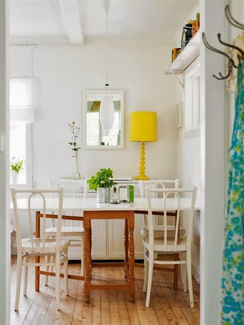 Ideas de decoración vintage con sutiles pinceladas de amarillo 2