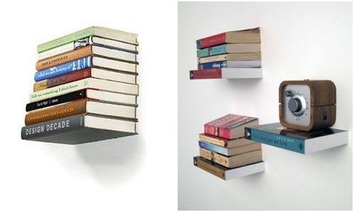 Repisas flotantes con forma de libros (¡y casa decorada por Harry Potter!) 1