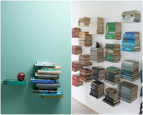 Repisas flotantes con forma de libros (¡y casa decorada por Harry Potter!) 3