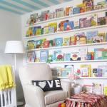Repisas modernas para libros en habitaciones para niños 1