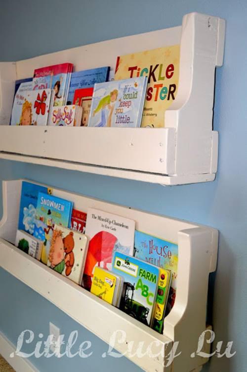 Repisas modernas para libros en habitaciones para niños 2