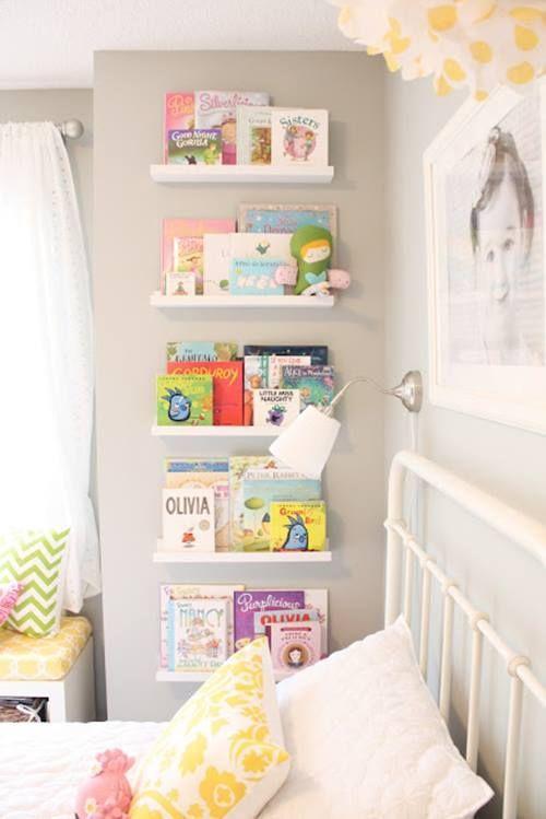Repisas modernas para libros en habitaciones para niños 4