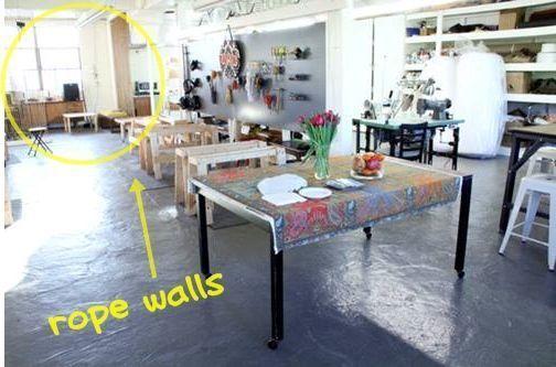Separar ambientes sin muebles ni tabiques 4