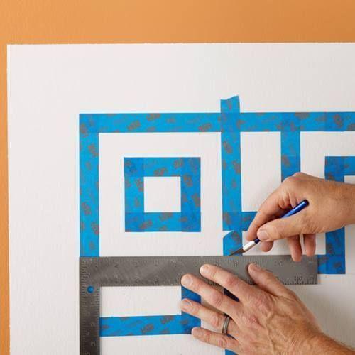 Cómo hacer un cabecero de cama original con pintura de pared 6