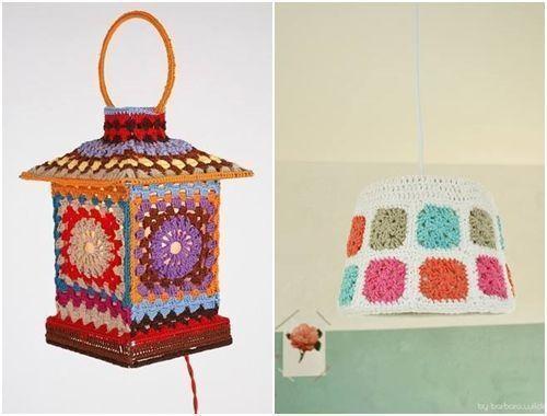manualidades para la casa lamparas de crochet, las mas originales 8