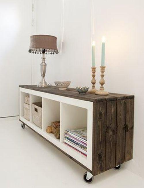 Cómo transformar muebles Ikea: tunear estanterías Ikea Expedit con ...