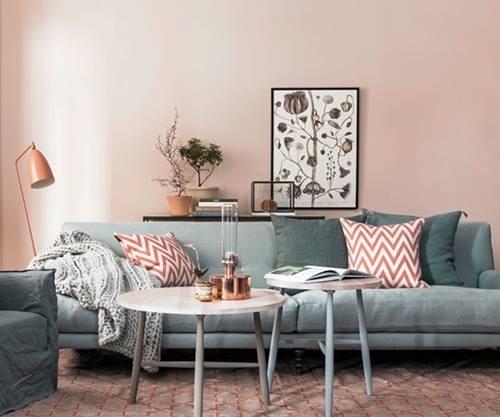 La decoración de interior en color rosa palo es ¡tendencia absoluta! 1