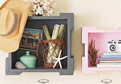nuevas ideas para pintar cajas de madera y para decorar la casa