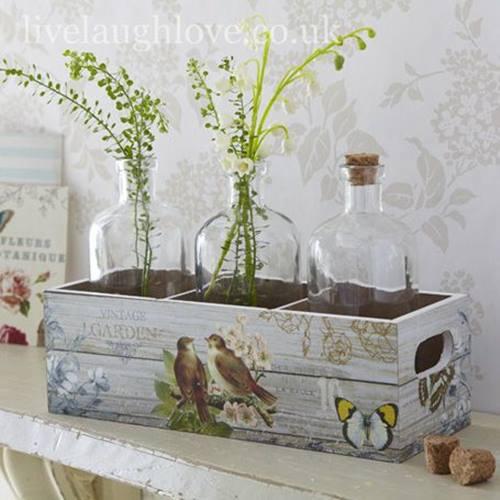 Nuevas ideas para pintar cajas de madera y reutilizarlas - Casas decoradas con papel pintado ...