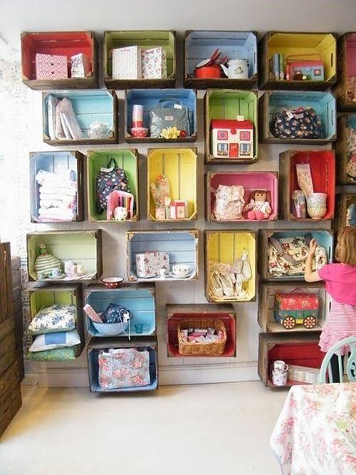 Nuevas ideas para pintar cajas de madera (y reutilizarlas para decorar la casa) 9