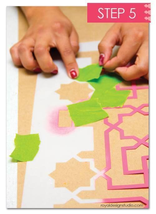 Cómo decorar mi casa con plantillas para pintar de estilo marroquí 10