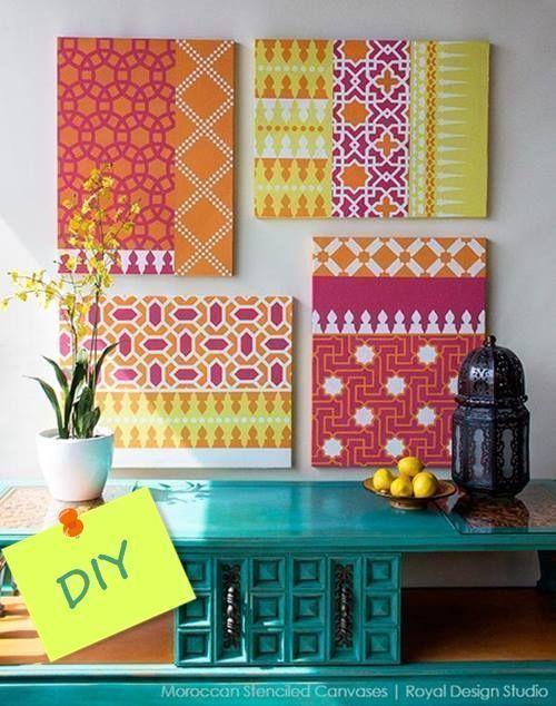 Decorar mi casa con plantillas para pintar estilo marroqu Plantillas decorativas ikea